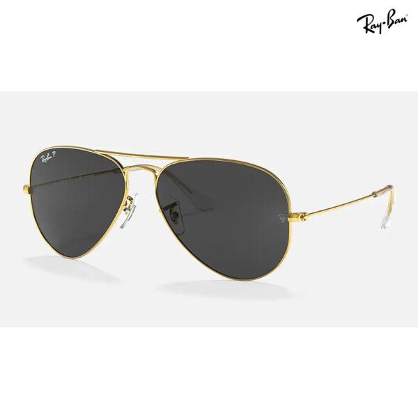 Ray-Ban Aviator Classic Gold Frame (Polarized / Black Classic)